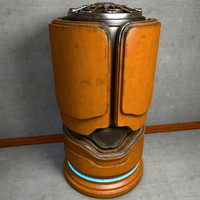 3d model of metal container scifi