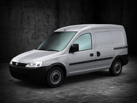 3d model of holden combo van