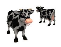 maya low-poly cow
