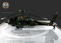 3d model helicopter apache