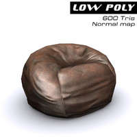 3d bean bag chair model