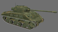 3d model sherman firefly tank tracks
