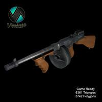 Tommy Gun Submachine Gun