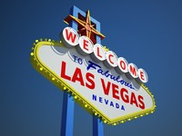 las vegas welcome sign 3d max