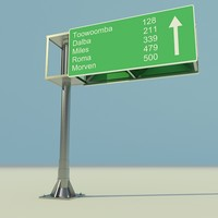 3ds max highway signs