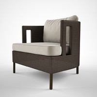 mcguire furniture cab lounge chair 3d model
