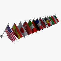 3d wall flags