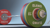 ELEIKO WEIGHTLIFTING BARBELL SET