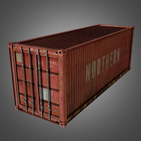 shipping conex cargo container 3d model