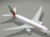 boeing 777-200 lr emirates 3ds