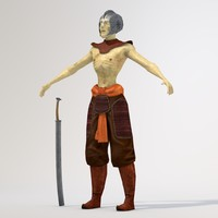 3d model fantasy demonic warrior games