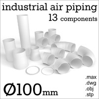 100 mm industrial air piping