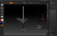 3d model sword dragon