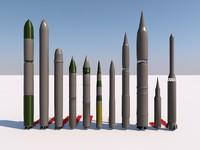 missile icbm c4d