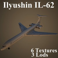 ilyushin airlines low-poly 3d max