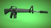 3d m16 gun model