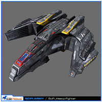 3d scifi army human spaceships
