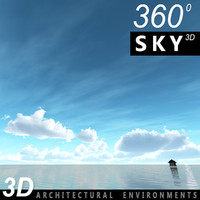 3d sky clouds architectural model