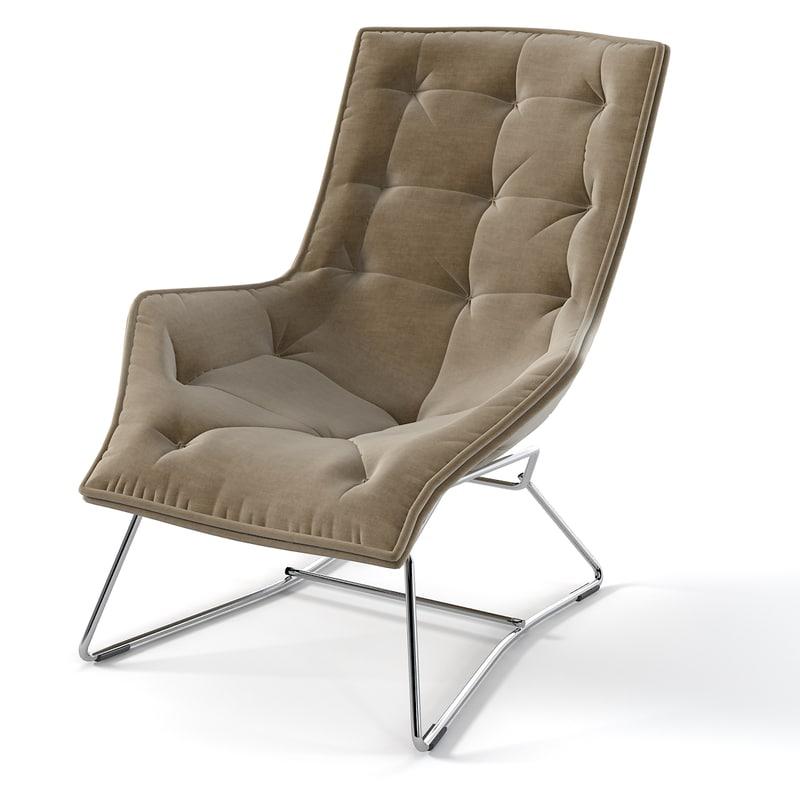 Zanotta GrandTour chair modern contemporary tufted 0001.jpg