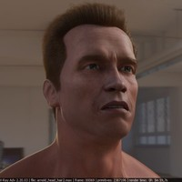 3d model head arnold hair male man