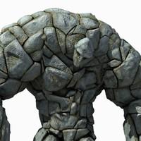 Stone Golem (Rigged)