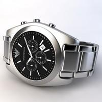 emporio armani watch 3d model