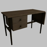 3d model writing desk
