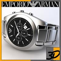 3d model emporio armani watch