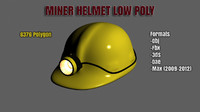 3d model of ready miner helmet