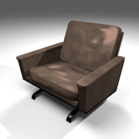 3ds max leather retro office chair