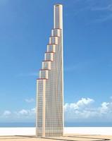 obj skyscraper architectural