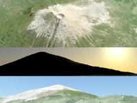 3d model fuji mountain