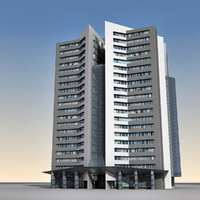 obj modern building