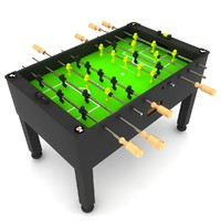3d foosball table model