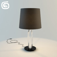 3d model twins table lamp
