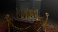 3d museum hall wooden