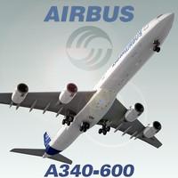 airbus a340-600 3d max