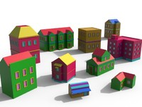 Cartoon Building Pack 2