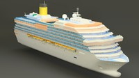 3d model high-poly cruise ship lightwave