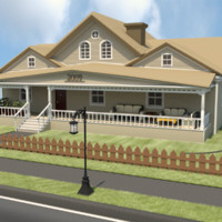 3d model cottage house