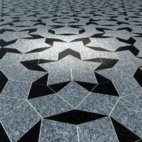 3d model penrose floor tiling marble
