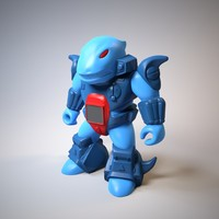 3d model of shark robot