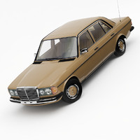 mercedes-benz w123 3d 3ds