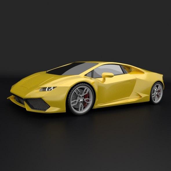 Lamborghini Huracan sports car restyled