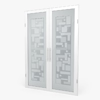 glass door 3d c4d