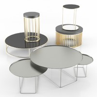 3d model tea table set