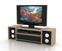 contemporary tv rack