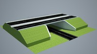 highway bridge 3d max