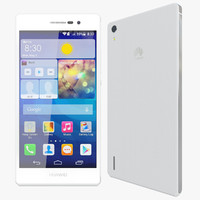 realistic huawei ascend p7 3d model