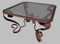 decorative end table 3ds